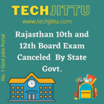 Rajasthan 10th and 12th Board Exam Canceled