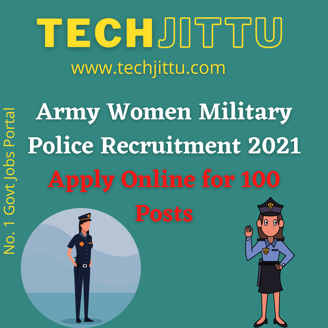 Army Women Military Police Recruitment 2021